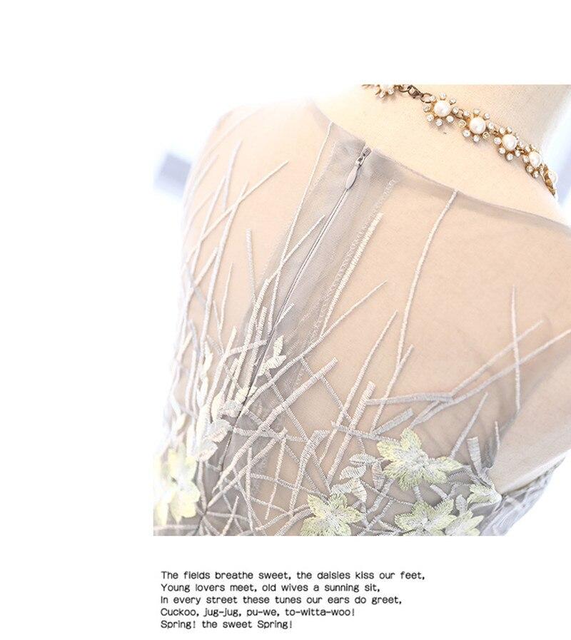 I lager Really Photo Silvery Scoop Neck Tulle Med Appliques Broderi - Särskilda tillfällen klänningar - Foto 6