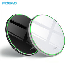 FDGAO 15W Fast Qi Wireless Charger For iphone Xs Max XR X Huawei Mate20 Pro/P30 Pro Samsung S9 S10 Type C 10W Charging Pad