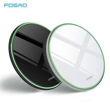 FDGAO 15W Hızlı Qi Kablosuz iphone şarj cihazı Xs Max XR X Huawei Için Mate20 Pro/P30 Pro Samsung S9 s10 C Tipi 10W Şarj Pedi