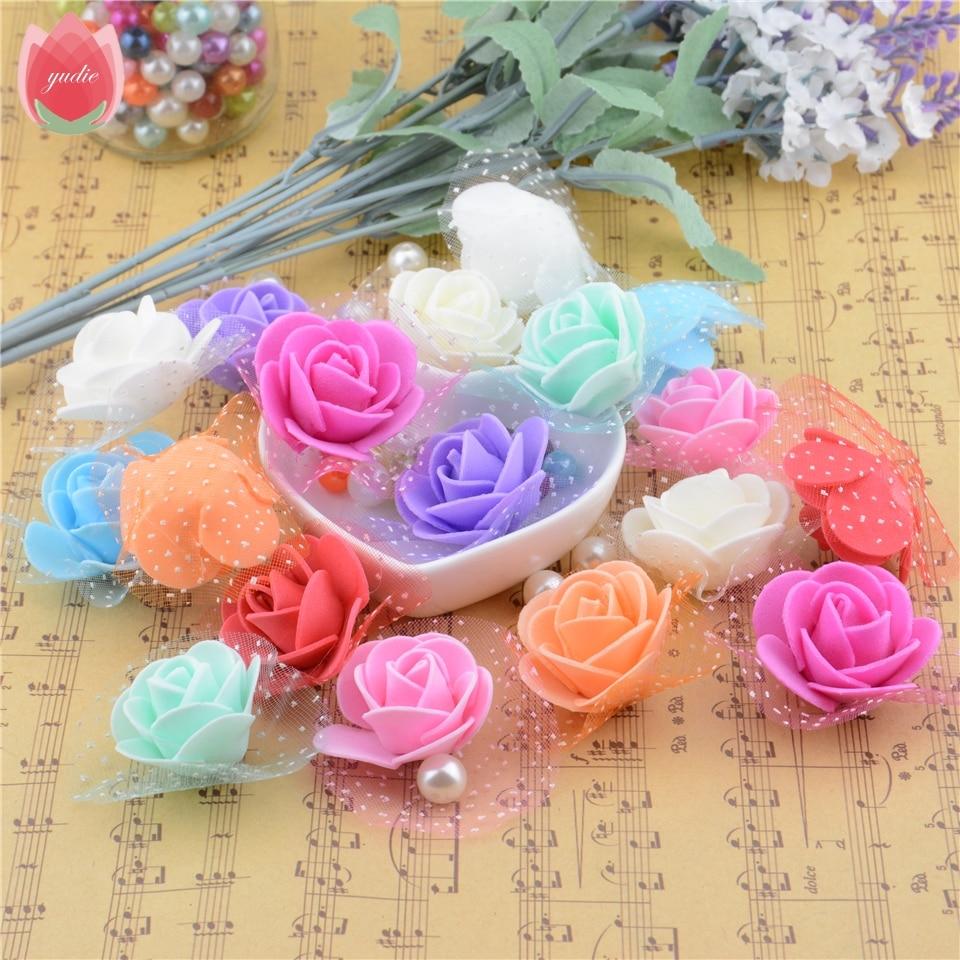 Wedding Car Decoration Diy : Rose handmade artificial flower for wedding car home decoration diy
