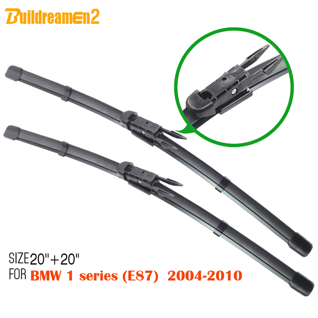 c3902de176b1 Buildreamen2 Car Soft Rubber Windscreen Wiper Vehicle Windshield Wiper  Blade 1 Pair For BMW 1 Series