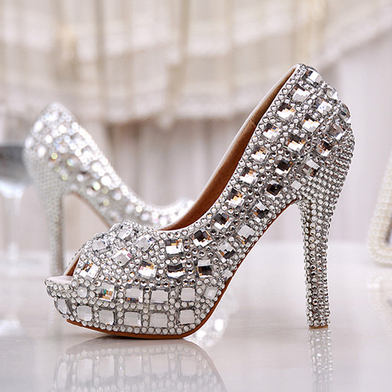 Online Get Cheap Silver Diamond Heels -Aliexpress.com | Alibaba Group