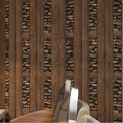 Chinese retro 3d wood wallpaper pvc wood wall covering for for 3d pvc wallpaper