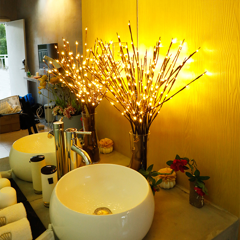 2018 New Modern Branch Lamp Floral Light 20LED AA Battery Powered Willow Branch Fairy Light Vase Coffe Bar Wedding Holiday Decor (20)