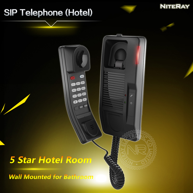 Wall mounted SIP telephone for Bathroom, SIP phone for hotel, 5 star hotel VoIP phone heds 9100 sip 5