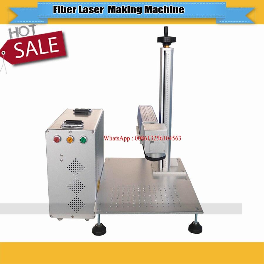 JIN ZHI YIN High Quality CNC 30W Fiber Laser Marking Machine Free Shipping No Tax For Russia, Thailand, Philippines