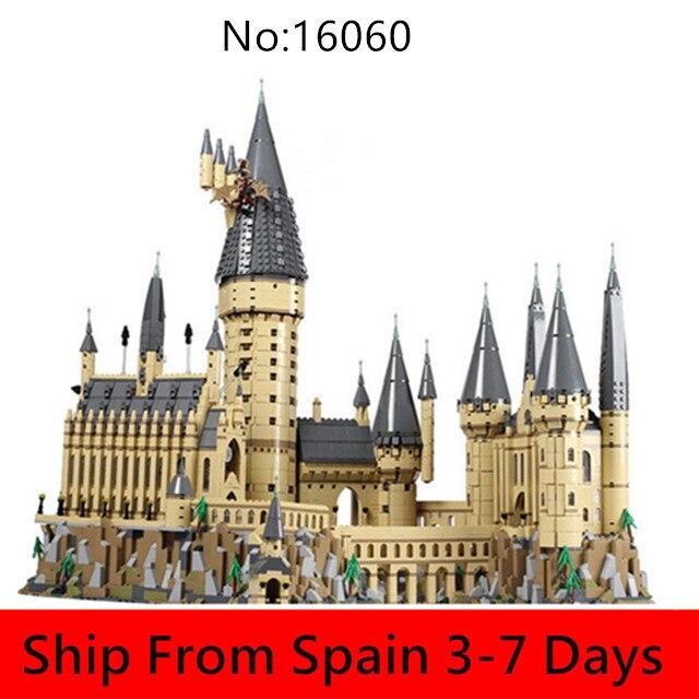 16060 Harri magique films série Potter château modèle blocs de construction ensemble Compatible 71043 enfants briques jouet noël en Stock