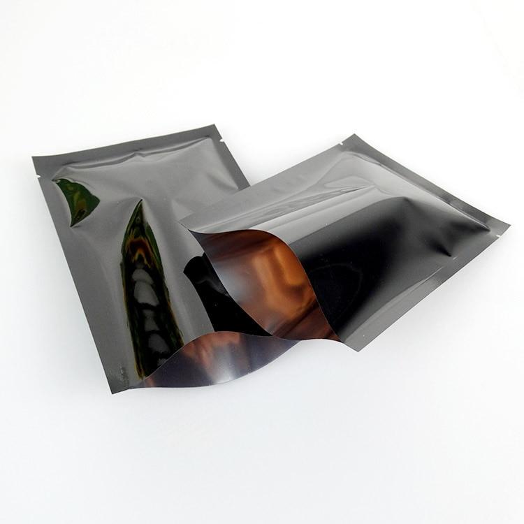 10*15 см плоские сумки 200 шт. x черное покрытие алюминиевой фольги-алюминирования лавсановая пленка пластиковый мешок тепло-печать еда сторге ...