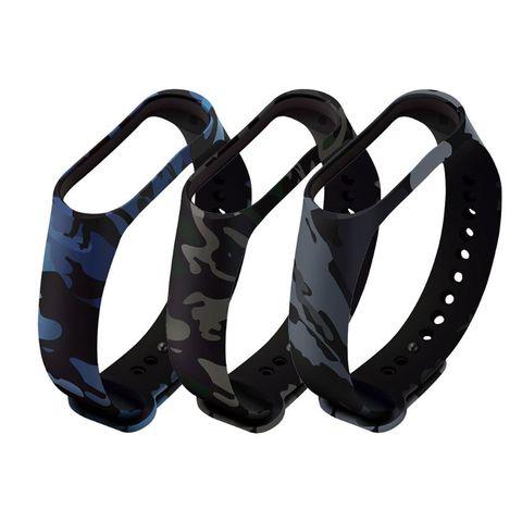 Купить прочный мягкий камуфляжный силиконовый браслет сменный ремешок
