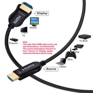 Image 2 - HDMI Kabel Optische Faser HDMI 2,0 Kabel 4K 60HZ 3D 5m 10m 15m 20m 30m 40m 50m 100m für HD TV LCD Laptop PS3 Projektor Computer
