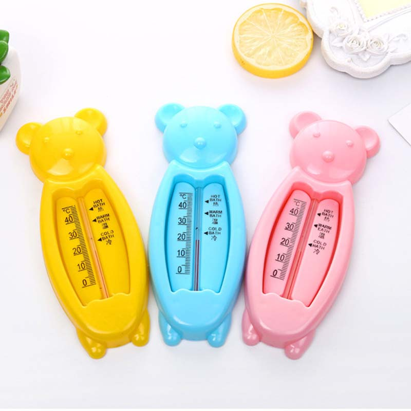 2Pcs Bear Baby Bath Thermometer Floating Tub Temperature Water Tester Kids Bath Toy Room Thermometer