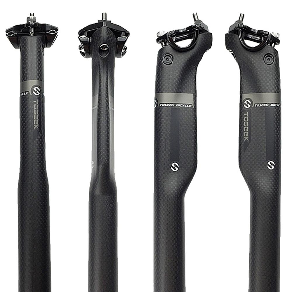 цена на Toseek 3K Full Carbon Fiber Mountain Bike Road Bike Bicycle Seat Tube Rod Seat Seatpost 27.2 / 30.8 / 31.6 * 350mm or 400mm New