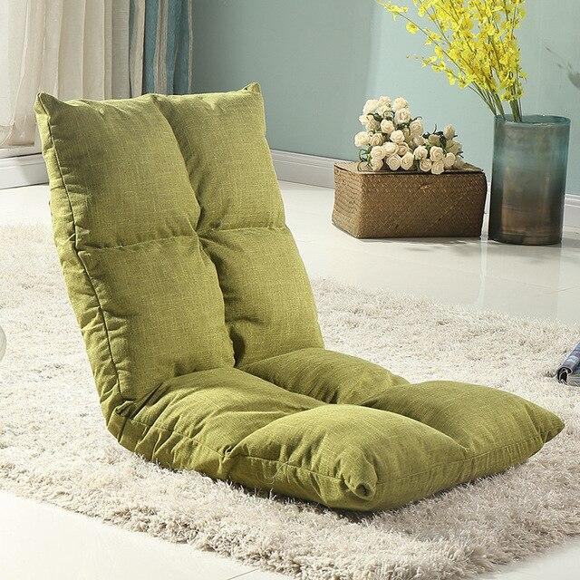 Único Sofás Sala de estar Oito Grades Preguiçoso Poltrona Dobrável Baía Janela Piso Cadeira de Móveis Para Casa 12 Cor Cama de Sofá De Canto tatami