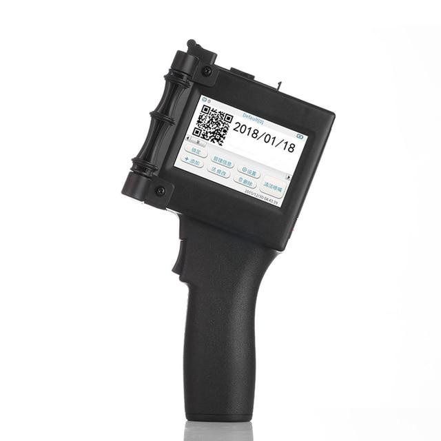 נייד כף יד הזרקת דיו מדפסת בר קוד QR קוד הדפסה עבור פלסטיק, טקסטיל, מתכת, עץ, זכוכית, אבן, מלט קיר