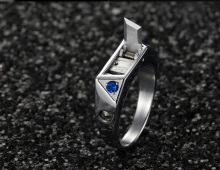 Titanium steel body protection ring inlaid diamond personality invisible knife ring hidden weapon artifact