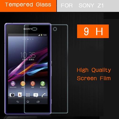 För Xperia Z1 härdat glas skärmskyddsfilm för SONY Xperia Z1 L39H - Reservdelar och tillbehör för mobiltelefoner - Foto 2