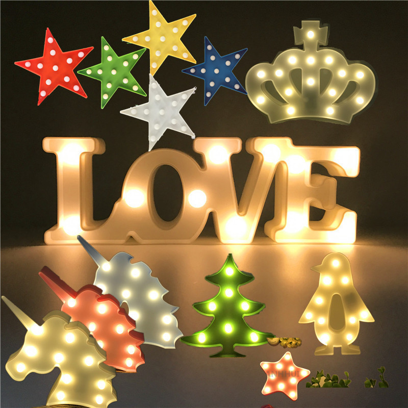 Novelty LED Night Light Star Crown Penguin Christmas Tree ...