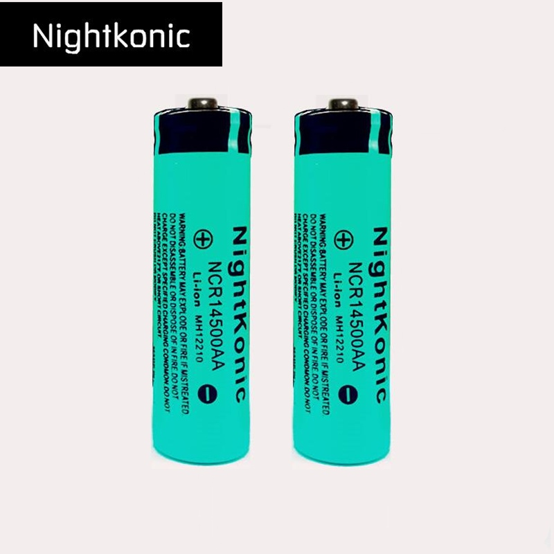 2 PCS/LOT 14500 Rechargeable Battery 3.7V Li-ion Rechargeable Battery for flashlight
