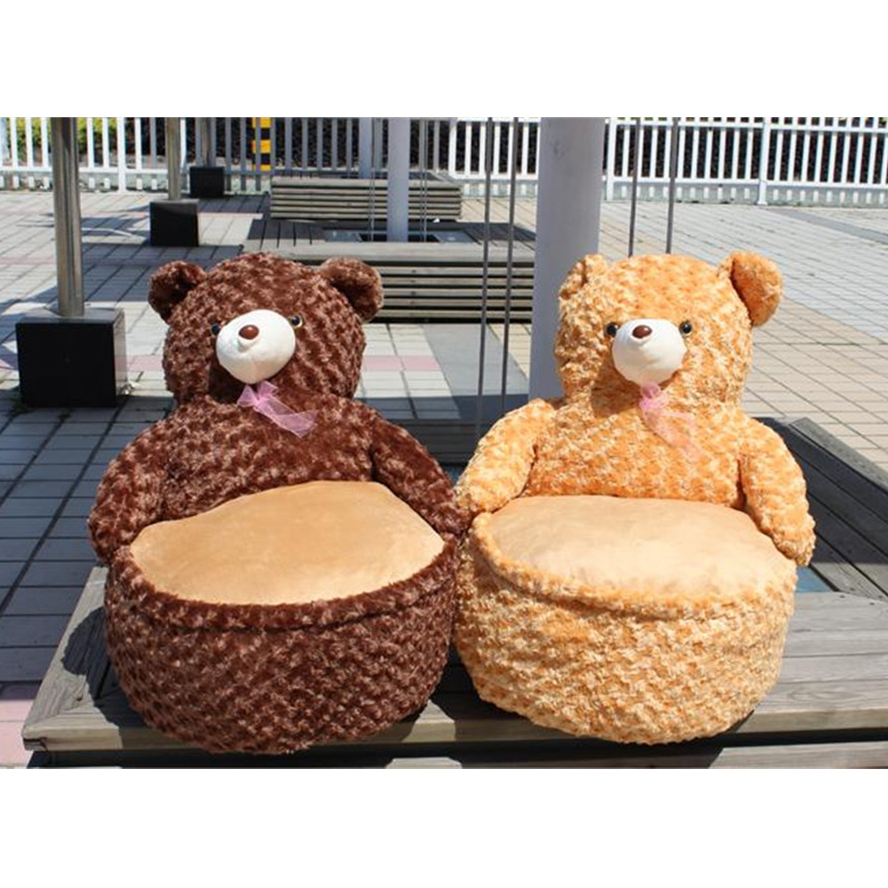 Brilliant Us 56 35 22 Off Fancytrader Pop Anime Teddy Bear Chair Toys Huge Stuffed Soft Animals Bears Sofa Cushion For Kids Adults 7 Colors 2 Sizes In Stuffed Pabps2019 Chair Design Images Pabps2019Com