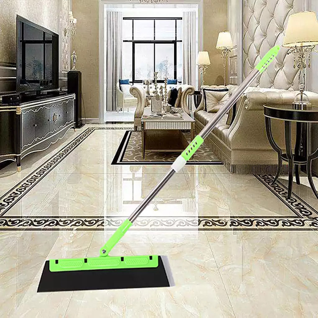 Beauty Magic Broom Sweeper Dust Hair Cleaning Brush Adjustable Bathroom Wiper Floor Squeegee Mop Wiper Green Bathroom Wiper,Sweeper Dust Hair Perfect for Wet Bathroom Floor