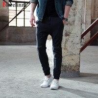 Soft Comfortable Casual Slim Fit Black Harem Pants Jeans Men,2017 Fashion lHot Sale Cotton Denim Good Quality Men Jeans,172079