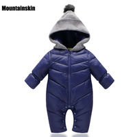 New Year Baby Boys Girls Rompers Kids Overalls Thick Warm Hooded Outwear 0 18M Children S