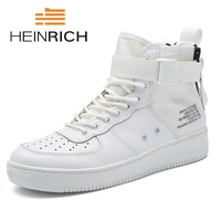 HEINRICH 2018 Spring/Autumn Men's Luxury Designers White Shoes Hip Hop High Top Gobon Sports Shoes Zapatillas Hombre Casual