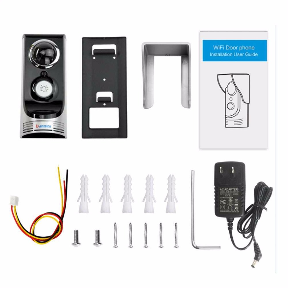 Wifi Video Intercom Wireless Video Door Phone Motion Detection 720P Night Vision Video Intercom Doorbell Cam kinco night vision video doorbell smart home wifi remote control hd waterproof dtmf motion detection alarm for phone