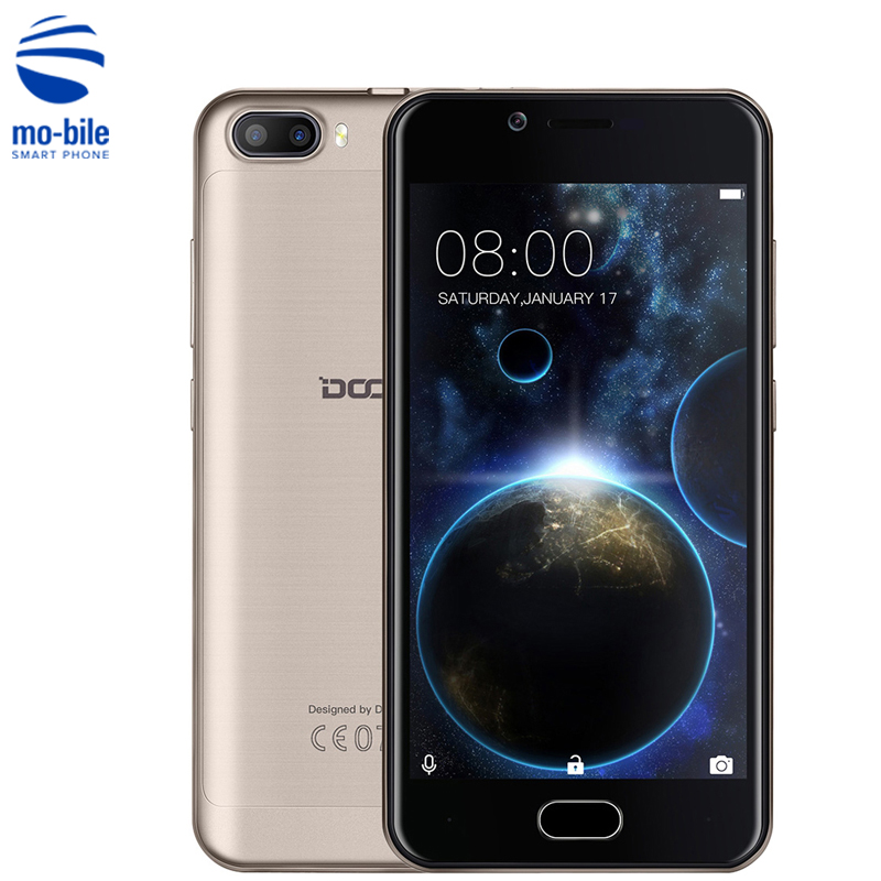 "Цена за На Складе DOOGEE Стрелять 2 3 Г Смартфон 5.0 ""Android 7.0 MTK6580 Quad Core 1.3 ГГц 5.0MP Две Камеры Заднего Touch ID Мобильный Телефон"