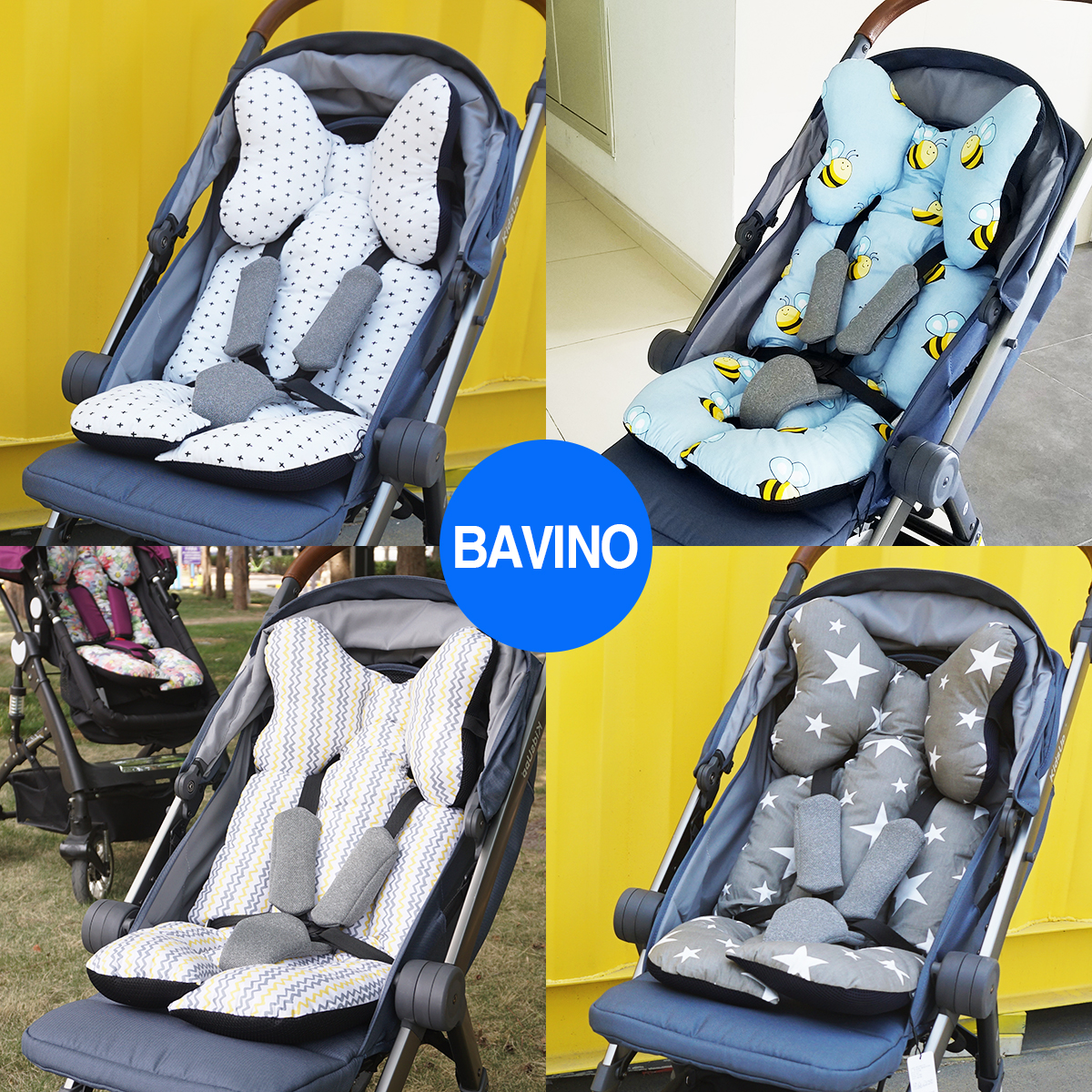 South Korea Bavino Baby Strollers Warm Seat Cushion Four General Dining Car Air Umbrella тетрадь для рисования south korea shopping secret garden key