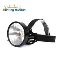 12pcs/lot 12 V LED high-power Super Bright storage battery headlamp Hunting Camping fishing emergency light power by DC