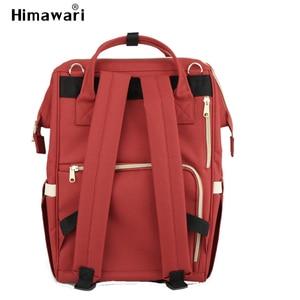 Image 3 - Himawari klasik bebek bezi çantası moda kadın seyahat sırt çantaları Laptop büyük kapasiteli mumya analık bez torba Bolsa Maternidade