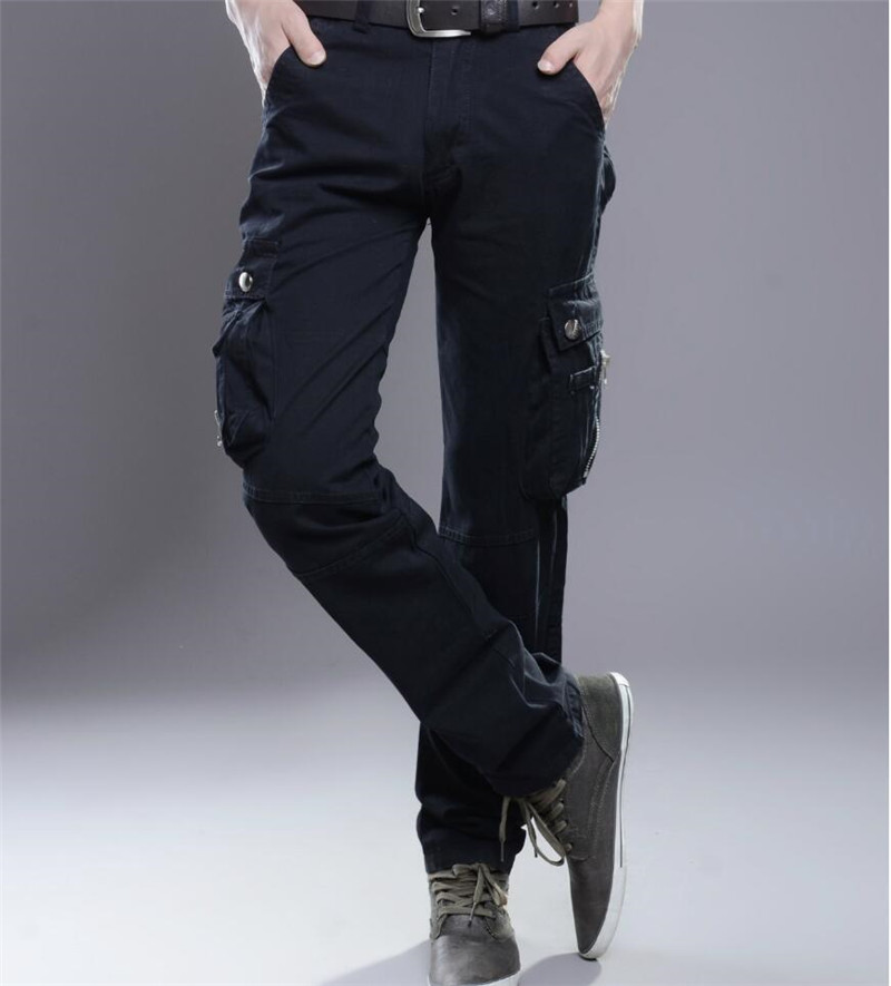 Plus Size Mens Military Cargo Pants Men Multi-pockets Baggy Tactical Pants Casual Male Trousers Overalls Army Pants