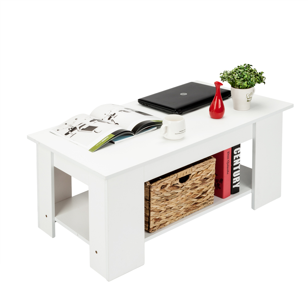 Coffee And End Tables With Storage Us 70 29 Lift Top Wood Coffee End Table With Storage Space Living Room Furniture White Us Shipping In Coffee Tables From Furniture On