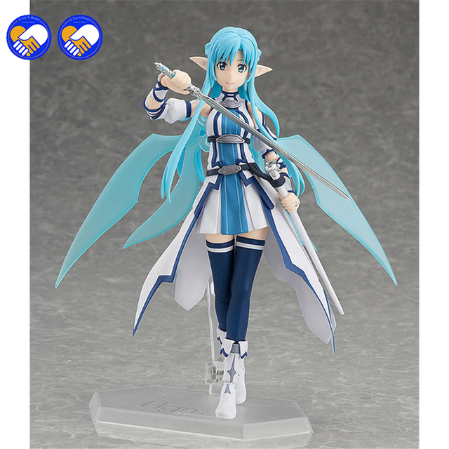 A toy A dream Anime Sword Art Online Figma 264 Yuuki Asuna Undine Special PVC Action Figure Collectible Model Toy 15cm 2