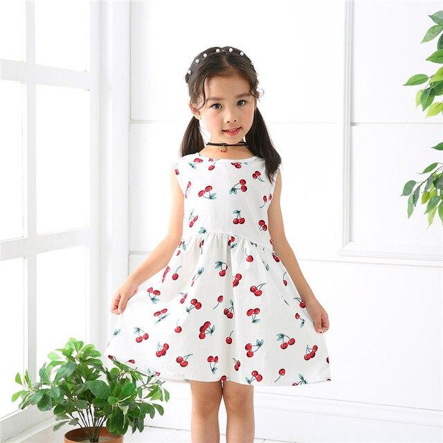 e3867e0eb Summer Girl Dress Kids Children Dress Girls Sleeveless Plaid Dress Soft  Cotton Summer Princess Dresses Baby Girls Clothes