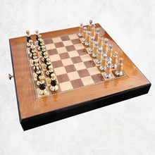 Top Quality Chess Set Mental-Wooden Chess Chessman Nice Gift for Friends Game Collection Home Decoratio Ornament Arts and Crafts