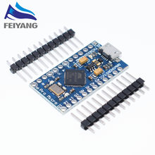 Pro Micro ATmega32U4 5 V 16 MHz Vervangen ATmega328 Voor arduino Pro Mini Met 2 Rij Pin Header Voor Leonardo mini Usb-Interface(China)
