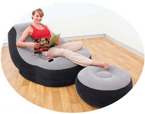 Impermeable inflable sofá de la sala conjuntos gris ocasional ...