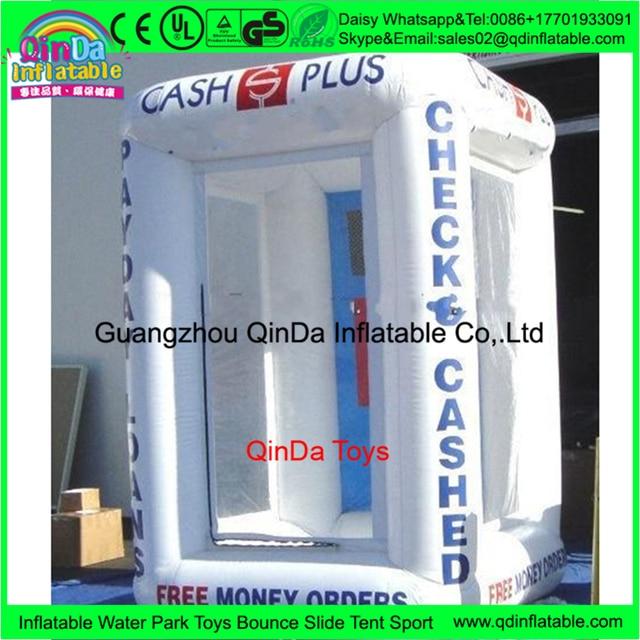Inflatable Cash Cube для рекламы, Надувные деньги стенда, inflatable cash cube палатка сделано в китае