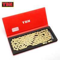 YBN chain GH11 TIG golden bicycle half hollow 11 speed bike chain mountain road bike 11 variable ultralight 266g 116 links boxed