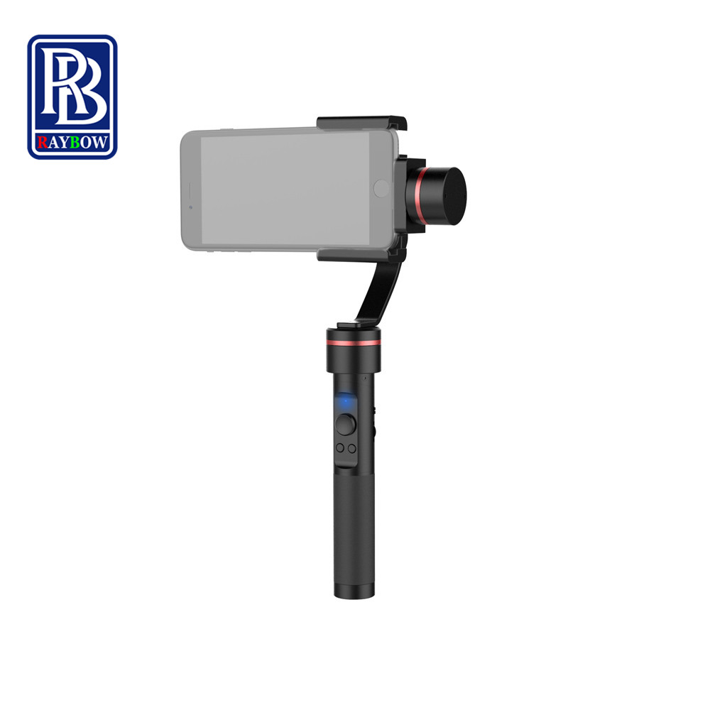 China brand Raybow S2 handheld 3 axis brushless gopro handheld gimbal stabilizer for iphone gopro sjcam