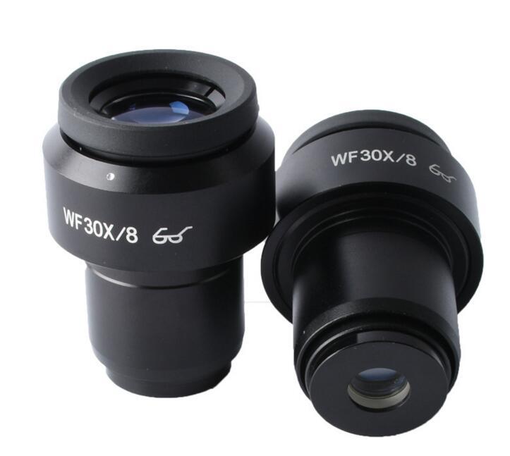 1 pc 30X Microscope stéréo oculaire grand Angle 8mm haut oculaire oculaire optique en verre oculaire