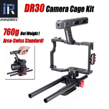 лучшая цена INNOREL DR30 15mm Rod Rig DSLR Video Cage Camera Stabilizer Top Handle Grip for Sony A7II A7r A7s A6300 Panasonic GH4 EOS M5