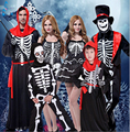 Free shipping,children adult Halloween masquerade cosplay skull skeleton ghost grim peaper scary costume dress clothing gloves