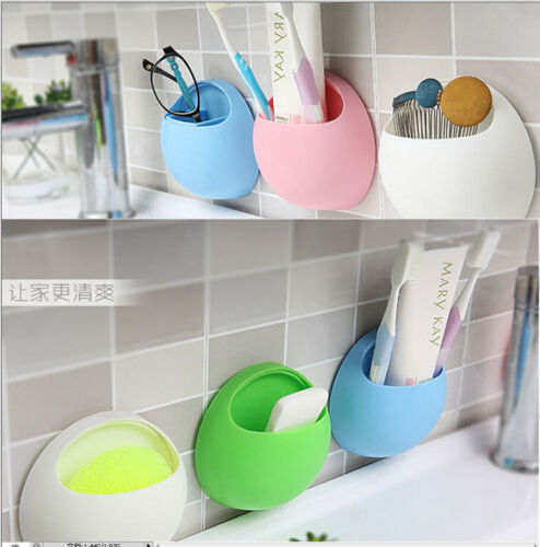 Dustproof Electric Toothbrush Frame Vogue Wall Holder Rack Stand Suction Suck Wall Mounted for Home Bathroom Family Healthy Life image