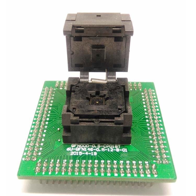 QFN28 MLF28 WLCSP28 à DIP28 Programmation Socket Adapter Pas 0.5mm IC Corps Taille 5x5mm IC550-0284-011-G À Clapet test Socket