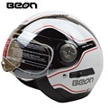 BEON Motorcycle Helmet men women open face moto helmet casco double visor motorcycle capacte for summer winter ECE approved