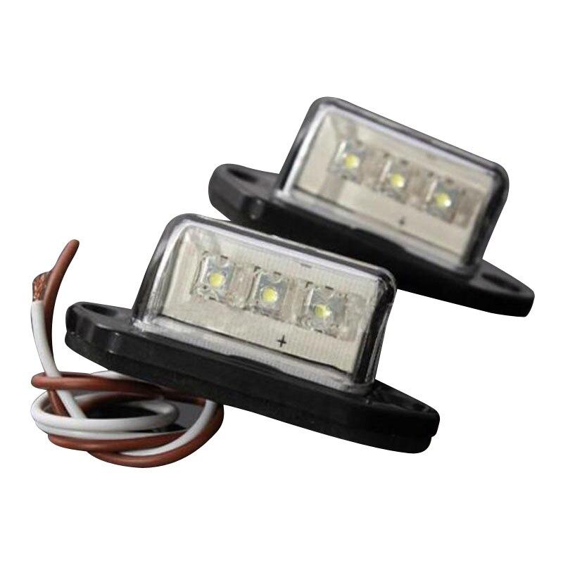 10x) 2 LED plaque d'immatriculation arrière lampe camion Ute bateau caravane Ttailer 12/24 V