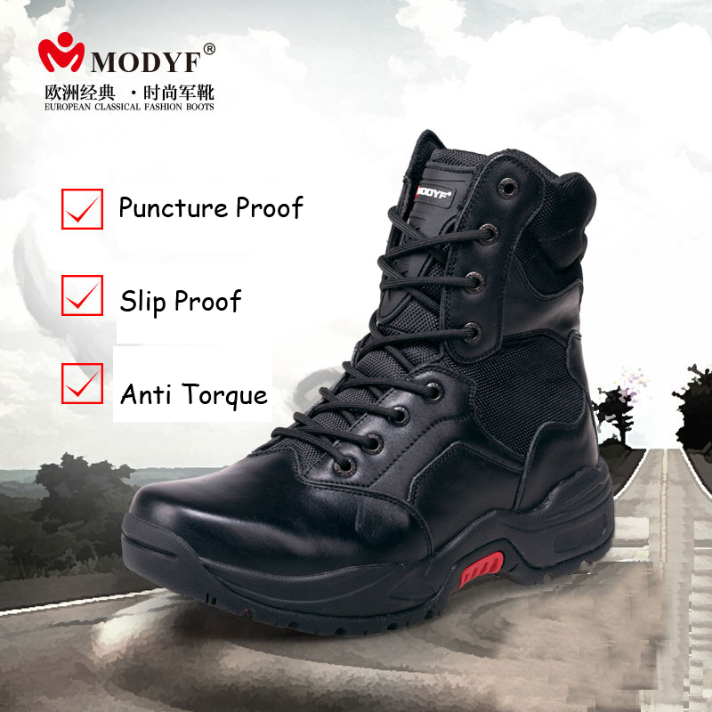 Modyf font b Men b font winter boots top quality Military boots wearproof motorbike font b